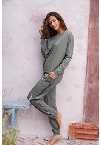 Vivance Dreams Pyjama, mit aufgesetzten Seitenstreifen kaufen