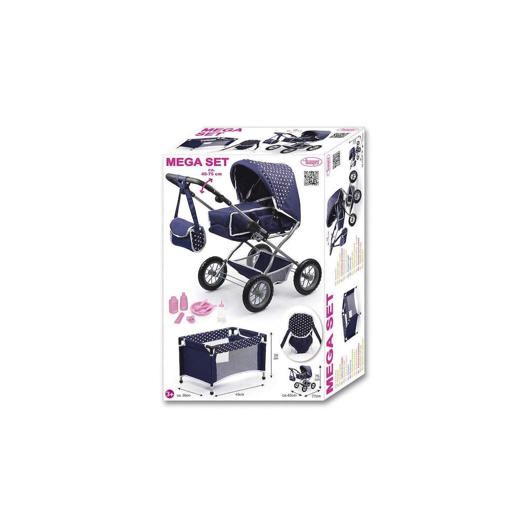 Puppenwagen »Set Grande«, mit Puppenbett und Puppenzubehör