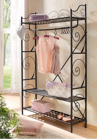 Home affaire Garderobe »Princess«, aus einem schönen Metallgestell, mit edlen romantischen Verzierungen, in zwei Farbvarianten kaufen
