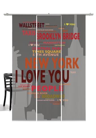 emotion textiles Schiebegardine »Big Apple«, HxB: 260x60, mit Befestigungszubehör kaufen