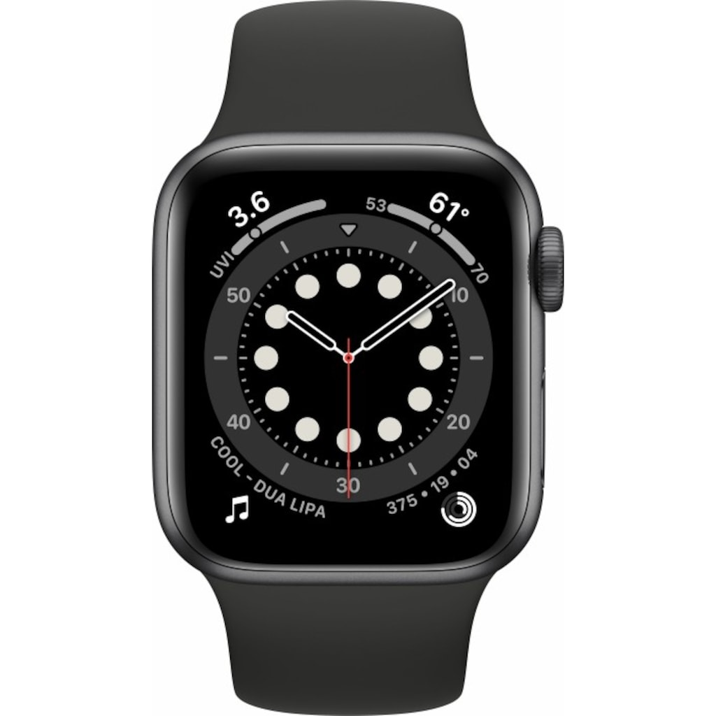 Apple Smartwatch »Apple Watch Series 6 GPS + Cellular, Aluminium Gehäuse, 40 mm mit Sportarmband«,