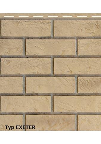 BAUKULIT Set: Verblendsteine »Vox Solid Brick Muster«, 5 Farben, 20 x 42 cm kaufen