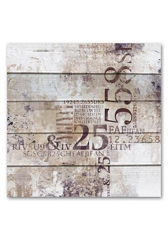 Holzbild »Abstrakt  -  Zahlen«, 50x50cm kaufen