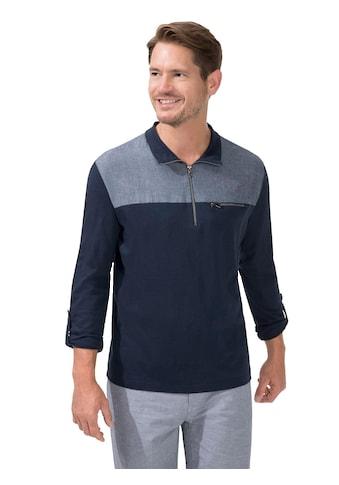 Catamaran Langarm - Shirt mit Einsatz in Jeans - Optik kaufen