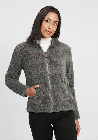 OXMO Kapuzensweatjacke »Telsa«, Sweatshirtjacke aus Teddy-Fleece Stoff kaufen