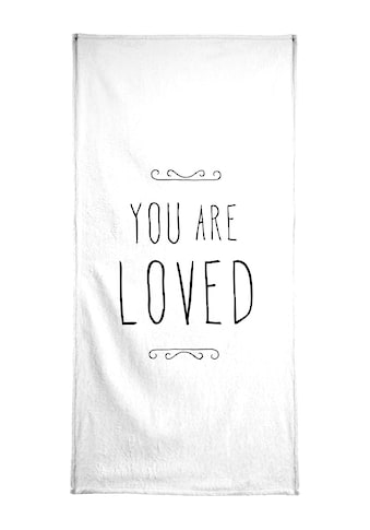 """Handtuch """"You Are Loved"""", Juniqe kaufen"""