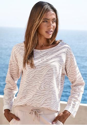LASCANA Sweatshirt, mit offenen Saumkanten kaufen
