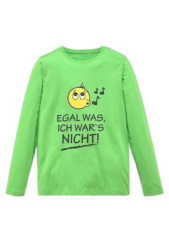KIDSWORLD Langarmshirt »EGAL WAS; ICH WAR'S NICHT!« kaufen