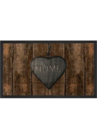 HANSE Home Fussmatte »Shabby Home«, rechteckig, 5 mm Höhe, Fussabstreifer, Fussabtreter, Schmutzfangläufer, Schmutzfangmatte, Schmutzfangteppich, Schmutzmatte, Türmatte, Türvorleger, mit Spruch, In- und Outdoor geeignet, waschbar kaufen