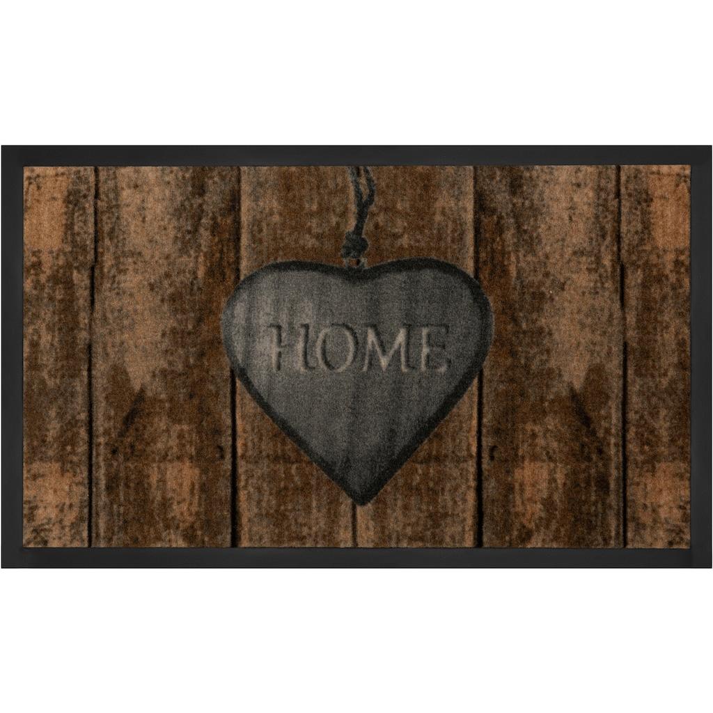 HANSE Home Fussmatte »Shabby Home«, rechteckig, 5 mm Höhe, Fussabstreifer, Fussabtreter, Schmutzfangläufer, Schmutzfangmatte, Schmutzfangteppich, Schmutzmatte, Türmatte, Türvorleger, mit Spruch, In- und Outdoor geeignet, waschbar