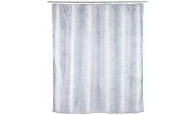 WENKO Duschvorhang »Concrete«, Breite 180 cm, Höhe 200 cm, Textil (Polyester) kaufen