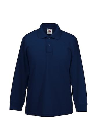 Fruit of the Loom Poloshirt »Kinder Polo Shirt, Langarm (2 Stück/Packung)« kaufen