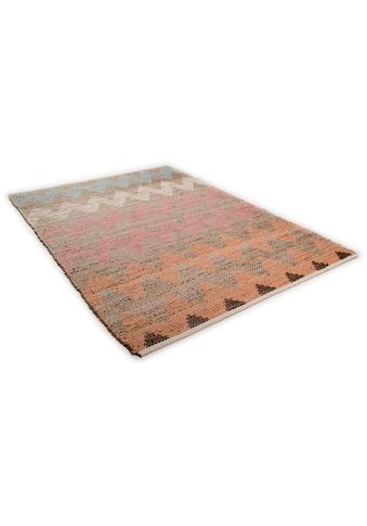 Teppich, »Pastel Zigzag«, TOM TAILOR, rechteckig, Höhe 7 mm, maschinell gewebt kaufen