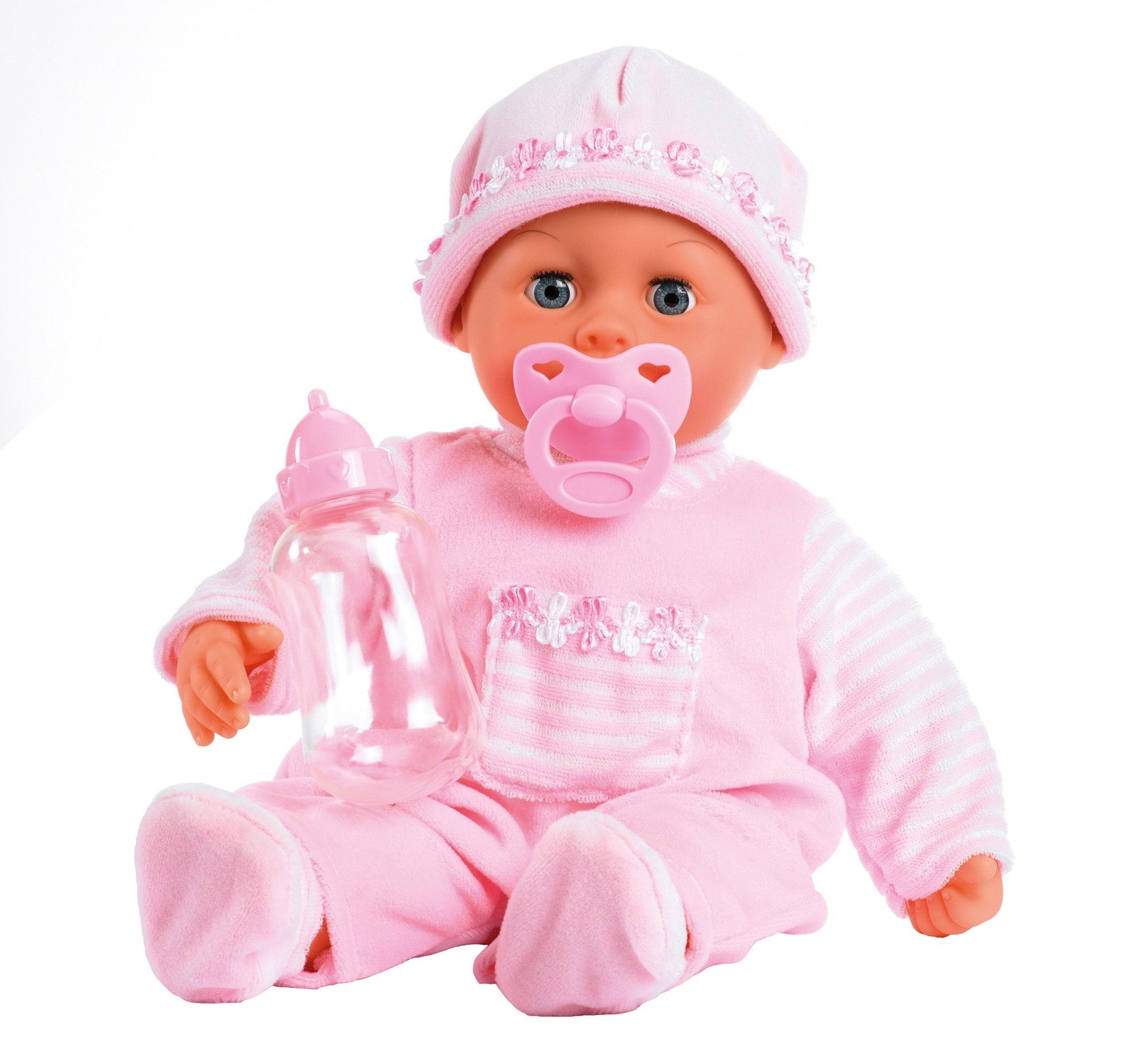 """Image of Bayer Babypuppe """"First Words, rosa"""""""