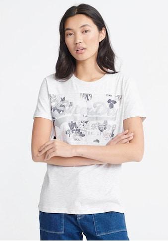 Superdry T - Shirt »VL ROSE PANEL ENTRY TEE« kaufen