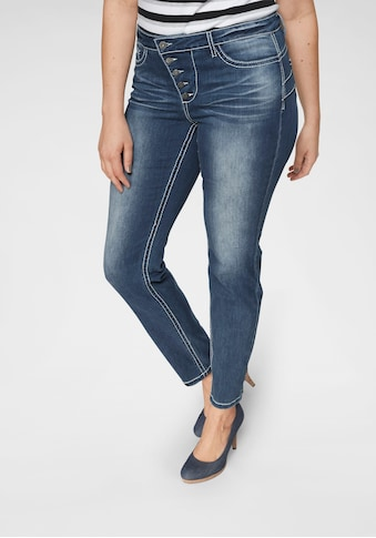 Arizona Slim-fit-Jeans »Heavy Washed - Shaping«, Mid Waist kaufen
