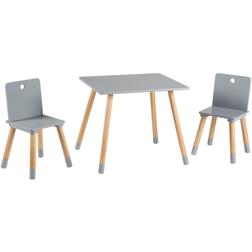 roba® Kindersitzgruppe »Kindersitzgruppe, grau«, (3 tlg.)