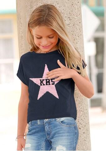KangaROOS T-Shirt, mit Wendepailletten Sternenapplikation kaufen