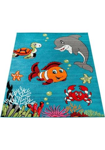 Paco Home Kinderteppich »ECE 950«, rechteckig, 14 mm Höhe, Kurzflor, Kinder Teppich, Unterwasserwelt kaufen