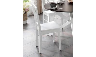 Home affaire Esszimmerstuhl »Sonoma«, 2er Set, aus massivem Kiefernholzgestell, angenehmer Sitzkomfort, Sitzhöhe 47 cm kaufen