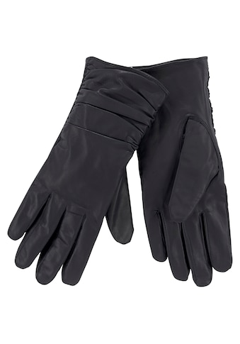 J.Jayz Lederhandschuhe, Glattleder, Fingerhandschuhe kaufen