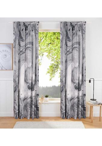 Leonique Vorhang »Loris«, blickdicht, Marmor Optik mit glatter, samtiger Oberfläche kaufen