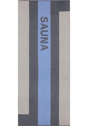 Cawö Saunatuch »Streifen«, (1 St.), mit farbigem Streifen & Schriftzug kaufen