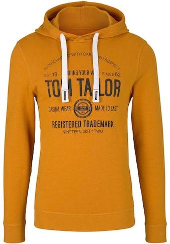 TOM TAILOR Kapuzensweatshirt, mit grossem Logoprint kaufen