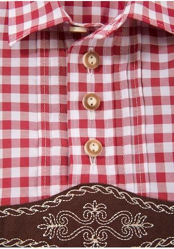 OS - Trachten Trachtenhemd Kinder mit aufgenähtem Hosenträger acheter