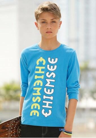 Chiemsee Langarmshirt, mit zweifarbigem Logodruck kaufen