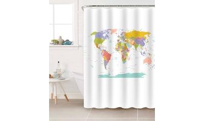 Sanilo Duschvorhang »Weltkarte«, Breite 180 cm, Höhe 200 cm kaufen