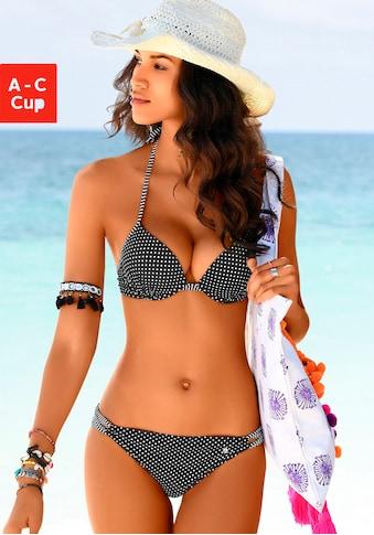s.Oliver Push-Up-Bikini-Top »Avni«, mit Mustermix kaufen