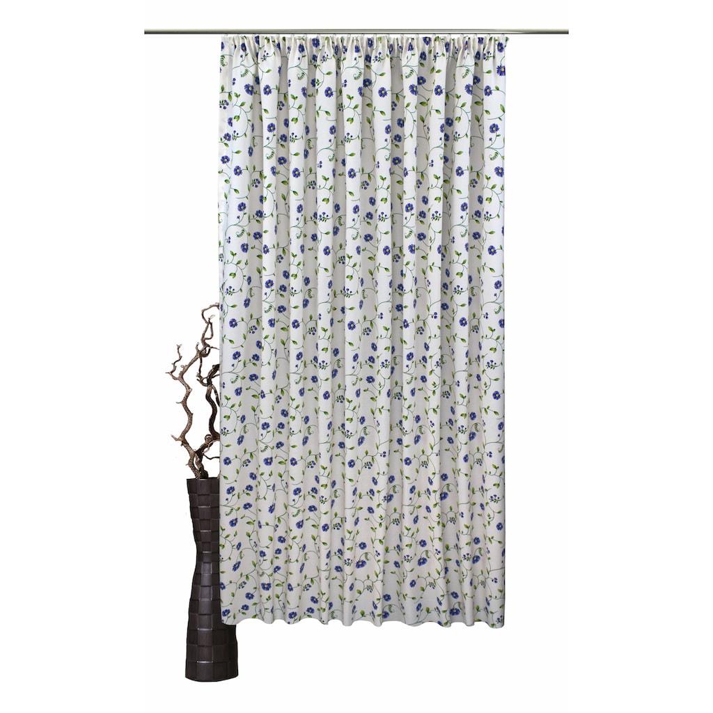 VHG Vorhang »Kati«, Leinenoptik, Blumen, Ranke