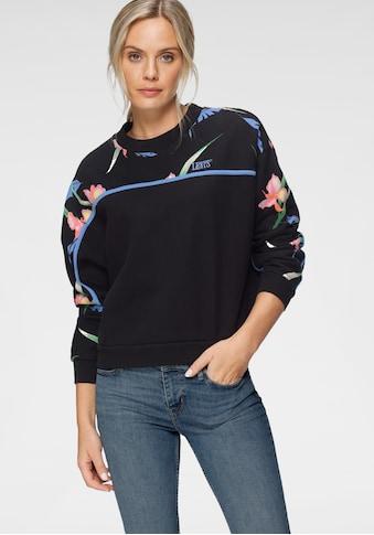Levi's® Sweatshirt, mit floralem Print und Logo-Stickerei kaufen