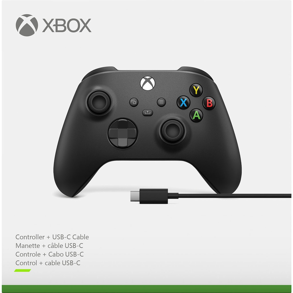 Xbox Wireless-Controller »Carbon Black«, inkl. USB-C Kabel
