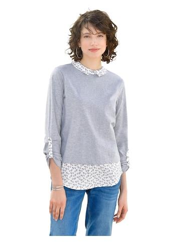 Ambria Longshirt in raffinierter 2 - in - 1 - Optik kaufen