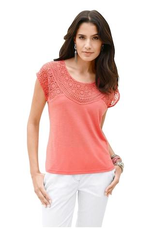 Inspirationen Shirt in effektvollem Flammgarn kaufen
