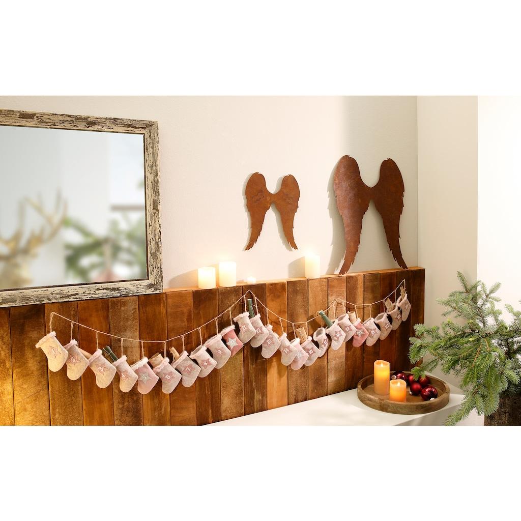 befüllbarer Adventskalender »Stiefel«, aus Filz, Länge ca. 220 cm