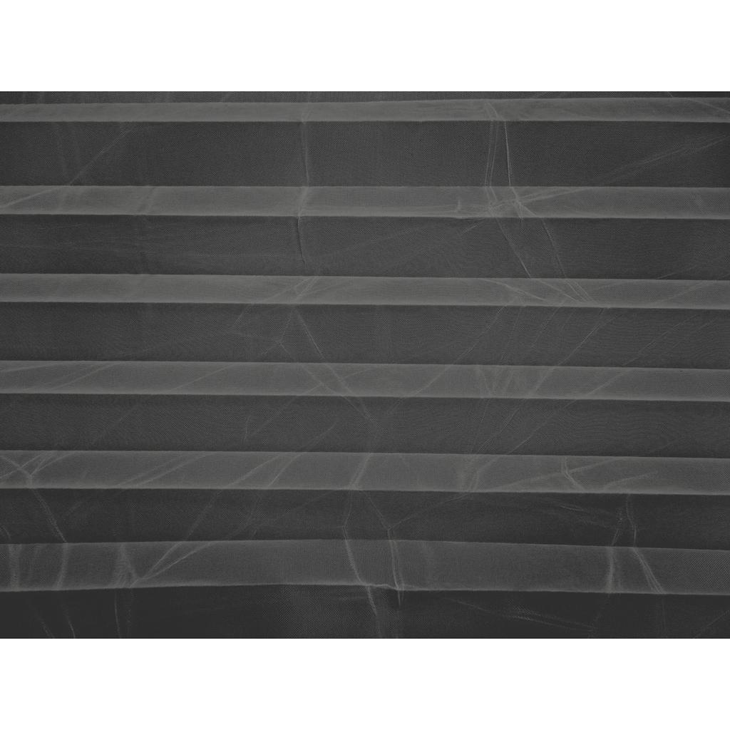 DELAVITA Plissee nach Mass »VOILE CRASH«, Lichtschutz, mit Bohren, verspannt, Crushed-Optik, Schienenfarbe weiss