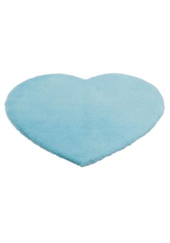 Lüttenhütt Kinderteppich »Herz«, herzförmig, 25 mm Höhe, Kaninchenfell-Haptik kaufen