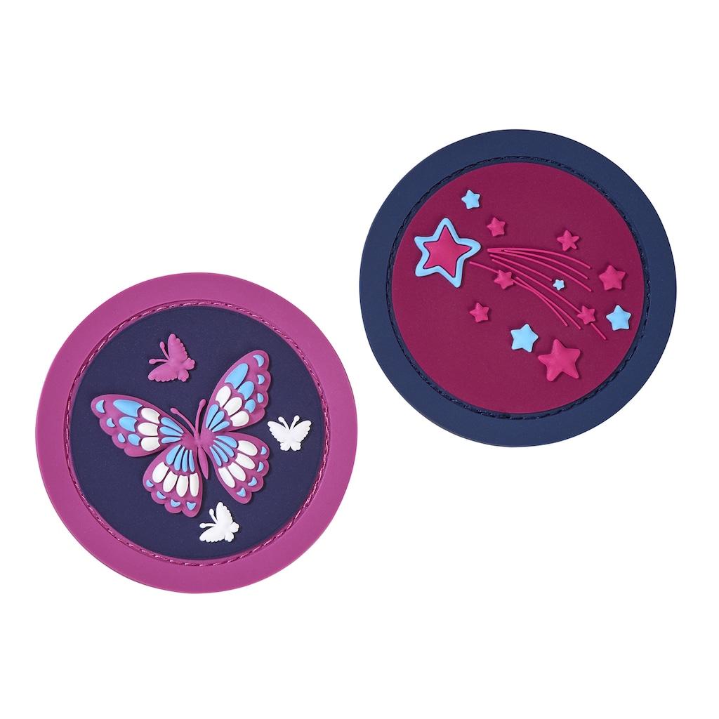 Herlitz Schulranzen »UltraLight Plus Butterfly«, Floureszierende Flächen-reflektierende Streifen auf den Schultergurten