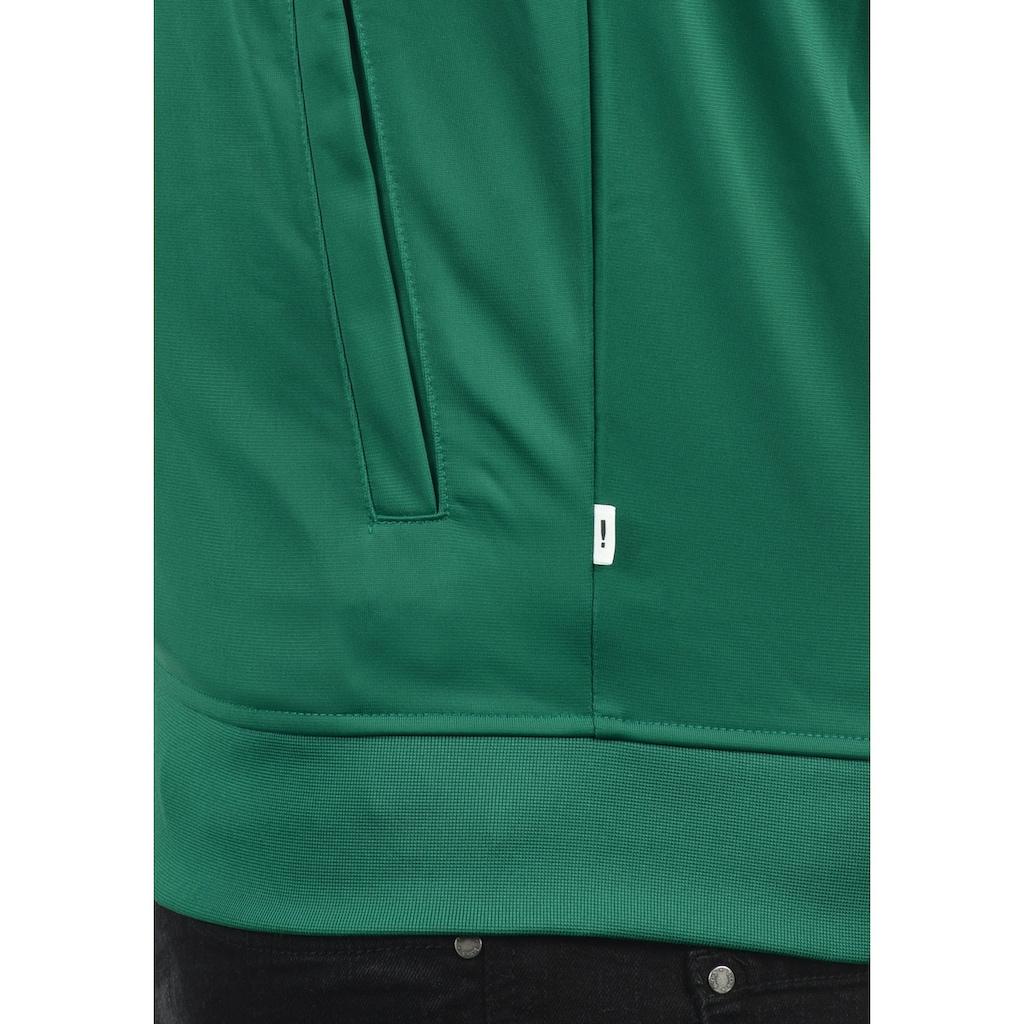 Solid Trainingsjacke »Leander«, Sweatshirtjacke mit weissem Reissverschluss