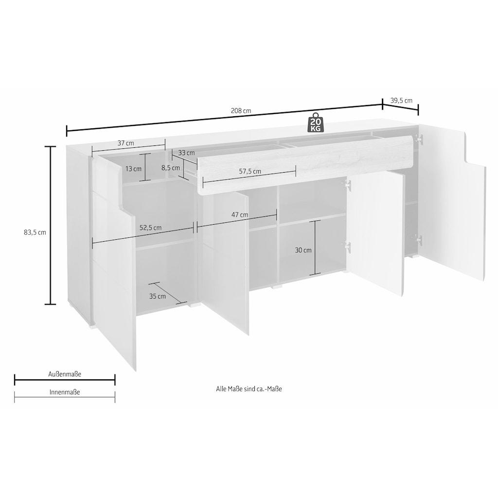 TRENDMANUFAKTUR Sideboard »Toledo«, Breite 208 cm