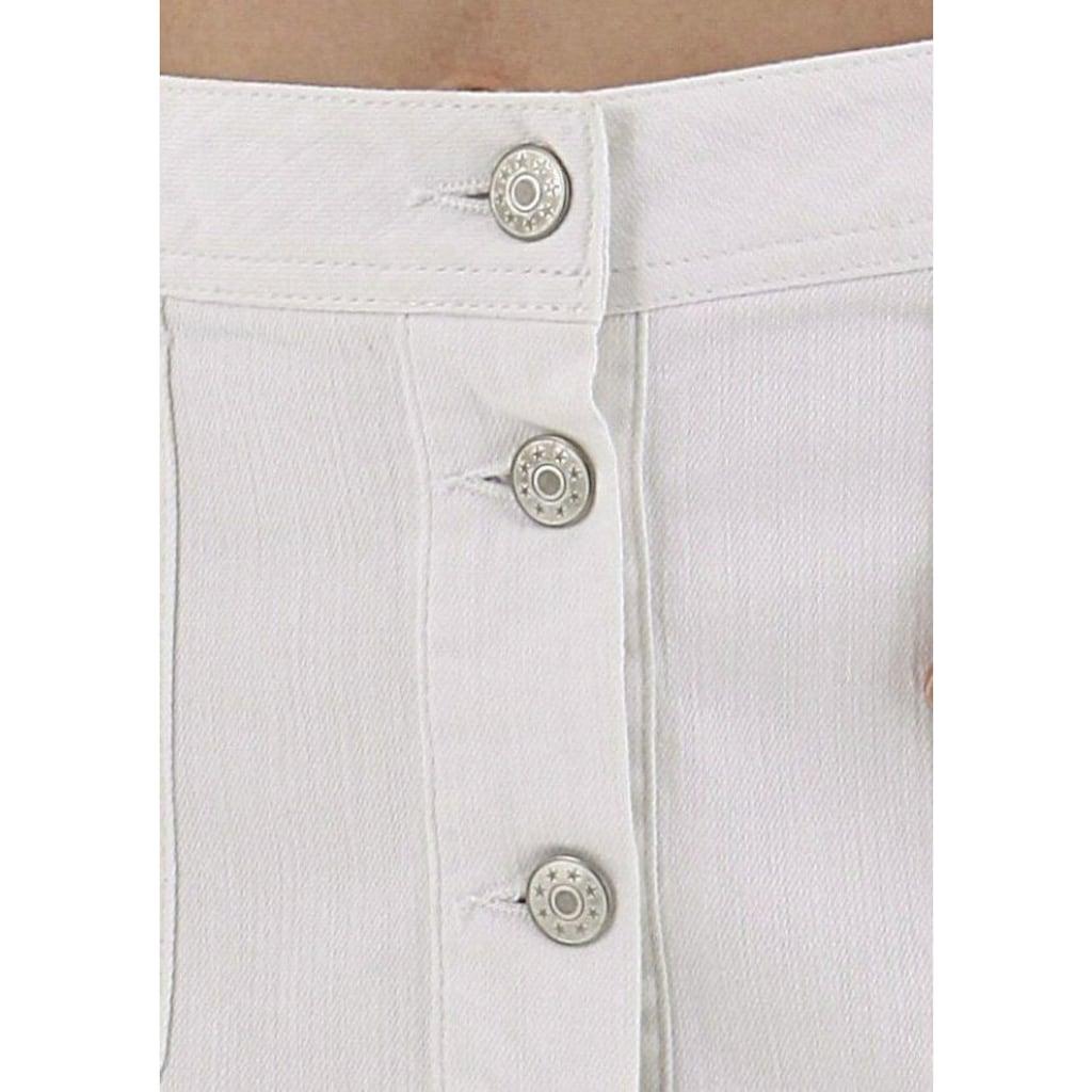 Aniston CASUAL Jeansrock, mit Knopfverschluss