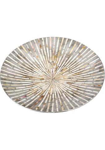 Casablanca by Gilde Dekoschale »Holzschale Vista perlmutt/grau«, handgerfertigt, rund,... kaufen