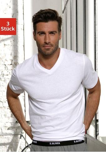 s.Oliver Bodywear V - Shirt (Packung, 3er - Pack) acheter