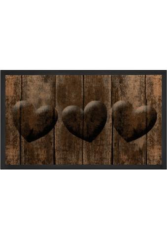 HANSE Home Fussmatte »3 Hearts«, rechteckig, 5 mm Höhe, Schmutzfangmatte, In- und... kaufen