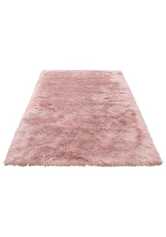 Home affaire Fellteppich »Dena«, rechteckig, 60 mm Höhe, Kunstfell, sehr weicher Flor, Wohnzimmer kaufen
