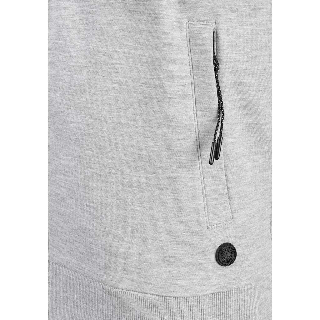 Solid Kapuzensweatjacke »Gelbert«, leichte Sweatshirtjacke mit sportlichen Details