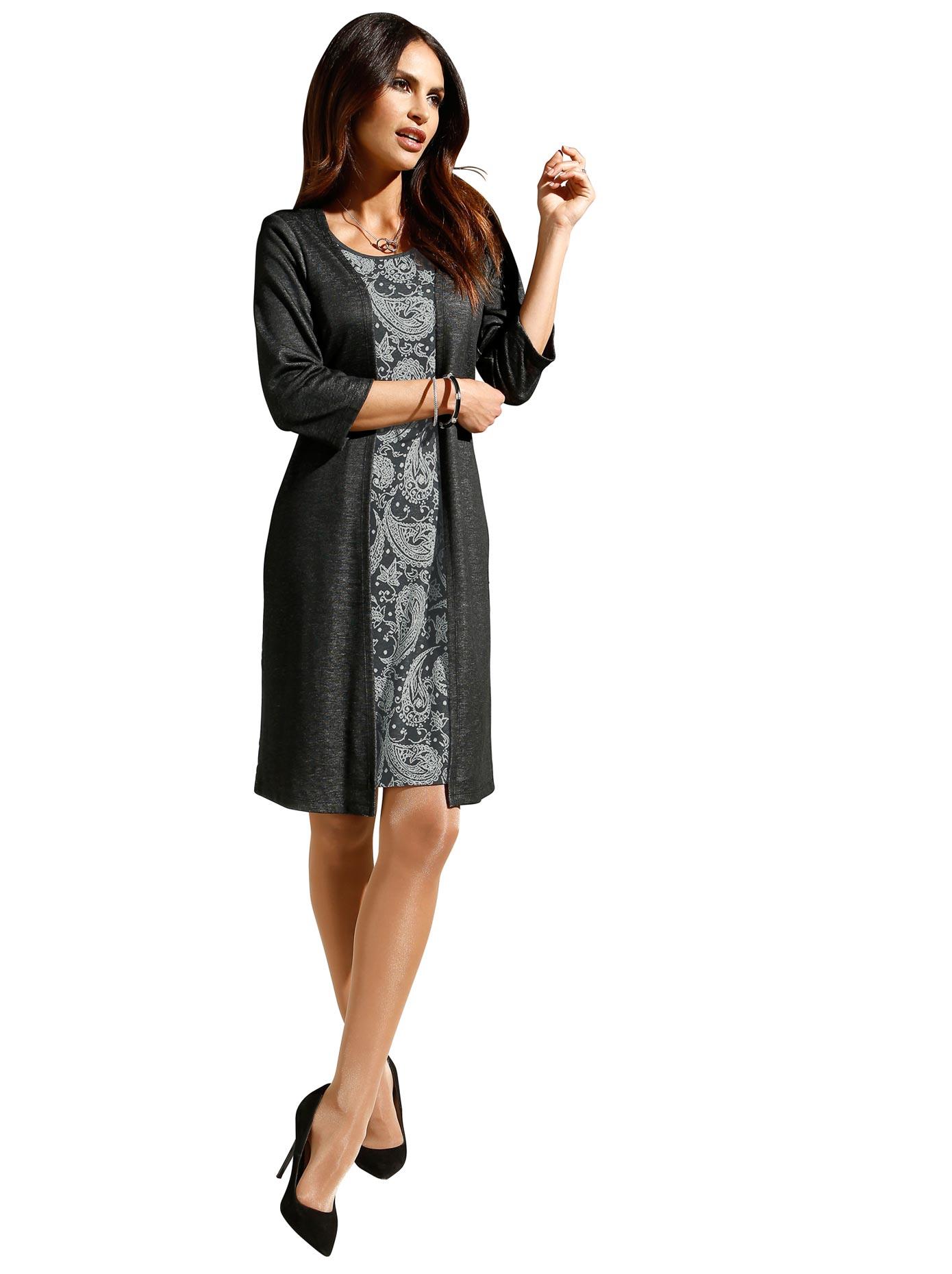 Image of Alessa W. Jersey-Kleid in attraktiver, figurgünstiger 2-in-1-Optik